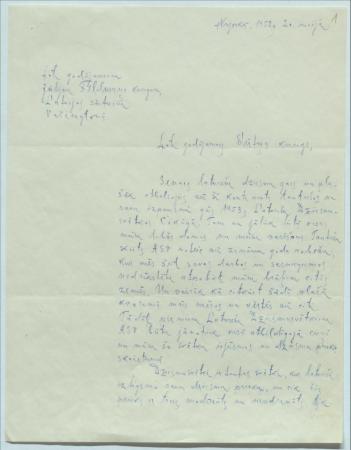 1. latviešu dziesmu svētku rīcības komitejas apkārtraksts par svētku rīkošanu 1953. gadā Čikāgā.