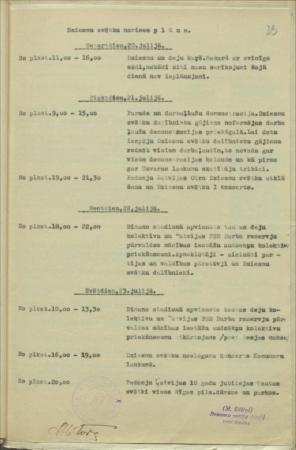 11. Vispārējo latviešu dziesmu svētku plāns