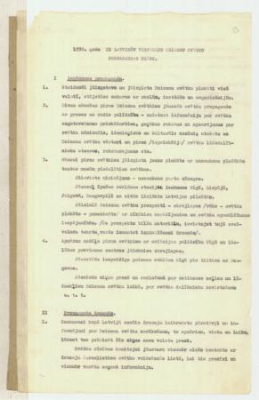 1938.gada IX Latviešu vispārējo dziesmu svētku propagandas plāns