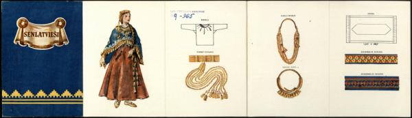 12. gs. latgaļu sieviešu tērps